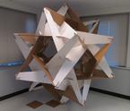 geometric sculpture of george w hart mathematical sculptor