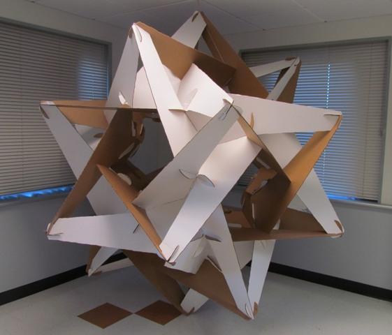 Large Geometric Construction Of Cardboard Imaginary